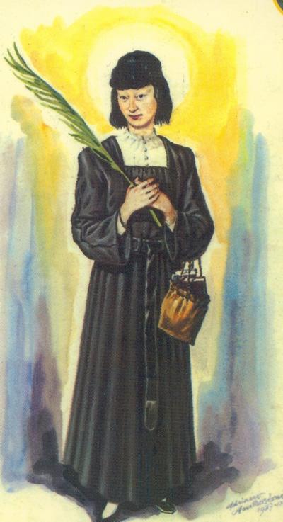 imagen oficial de santa magdalena, obra de adriano ambrosioni