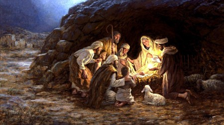 Gloria a Dios en el cielo y paz en la tierra a los hombres de buena voluntad