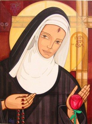 Santa Rita de Casia. Representación moderna.