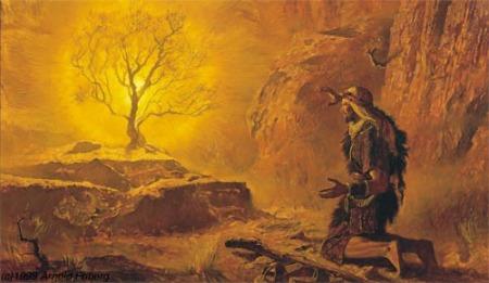 Moisés lo indica en el episodio de la zarza