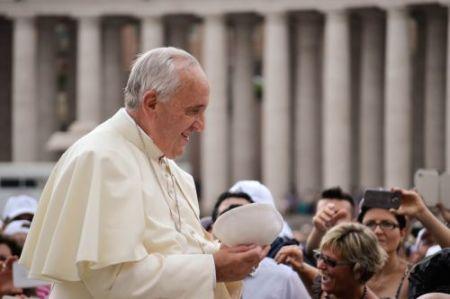 El Papa Francisco en la Audiencia General de hoy (Foto: Daniel Ibáñez / ACI Prensa)