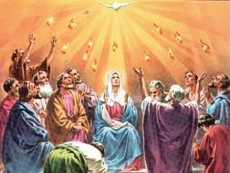 Cuando llegó el día de Pentecostés, todos los discípulos estaban reunidos, y quedaron llenos del Espíritu Santo