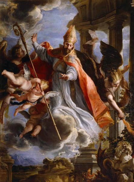 Claudio Coello. Triunfo de San Agustín. Óleo sobre lienzo. 1664. Museo del Prado. Madrid