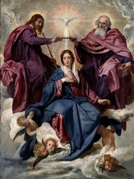 La Coronación de la Virgen. Diego Velázquez, Museo del Prado