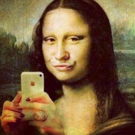 La Joconda o Mona Lisa con Selfie