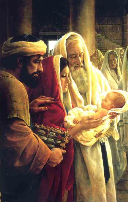 Mis ojos han visto a tu Salvador, a quien has presentado ante todos los pueblos: luz para alumbrar a las naciones y gloria de tu pueblo Israel