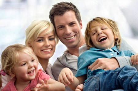 Familia con hijos