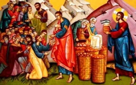 La gente comió hasta quedar satisfecha, y de los trozos que sobraron llenaron siete canastas