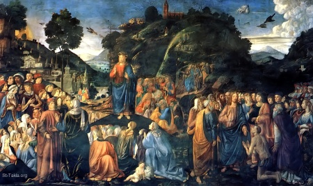 www-St-Takla-org--Jesus-Sermon-on-the-Mount-004-Cosimo-Rosselli-1481-with-Healing-of-the-Leper