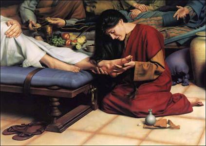 Maria-lava-los-pies-a-Jesus